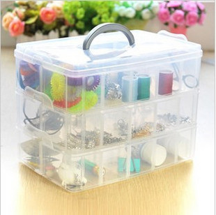 Plastic storage box  cosmetic box jewelry box transparent storage box