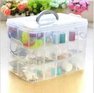 Plastic storage box  cosmetic box jewelry box transparent storage box