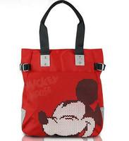 Hot casual oxford fabric handbag! mickey shoulder shopping bag ! waterproof black red pink gray brown!