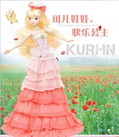 Kurhn doll Chinese Doll 29cm princess doll girls toys joint body model Happy Princess 6084 toys for children Fashion Doll