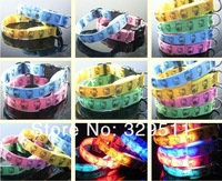 DHL FREE &FEDEX SHIPPING New arrival fashion cartoon flashing Dog collar Hello kitty LED pet collar 4 colors