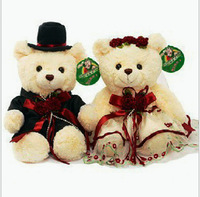 Plush toy doll teddy bear wedding dress bear couple doll bears wedding gifts lovers Teddy married 42cm a pair