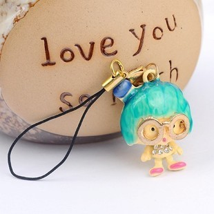 6266 accessories glasses little girl cell phone pendant mobile phone chain !(China (Mainland))