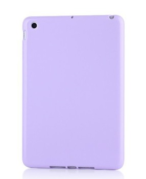 FocusTM TPU Back Cover Bumper Case for Apple iPad Mini -Light purple