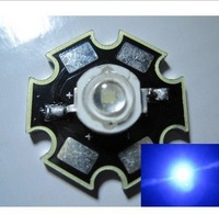 Freeshipping 10PCS 3W Royal Blue High Power LED Emitter 700mA 450-455NM with 20mm Star Platine Heatsink for Plant Grow/Aquarium