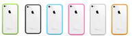 10pcs case for iPhone 4s Silicone Bumper Frame Case Cover 7 Colors Available