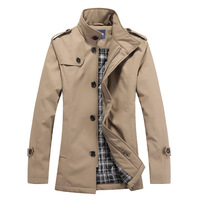 2013 spring medium-long jacket british style clothing stand collar male slim casual coat