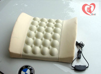 Free shipping 12V Electrical Back Office Lumbar Seat Car Seat Cushion Back Support Car Cushion Pillow With Massage