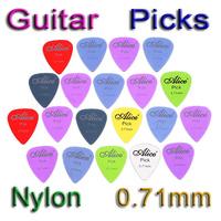 10sets/lot(200pcs) Alice 20pcs/set 0.71mm Smooth Nylon Acoustic Electric Guitar Picks Plectrums I29 Free Shipping Wholesale