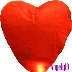 100pcs/lot Chinese Sky lantern fire Red Heart flying Lanterns Wedding/Birthday Wishing Paper heavenly Balloons free shipping(China (Mainland))