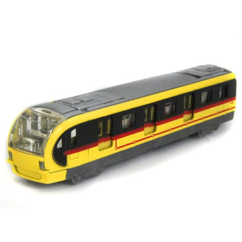 Toy car alloy subway rail car acoustooptical belt