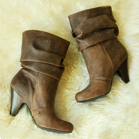 Free shipping Winter women's shoes jessica simpson 25pt vintage plus size knee-high ankle boots