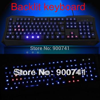 Free shipping F6 wired gaming keyboard luminous usb laptop backlit keyboard lol