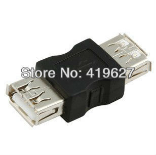10PCS Free Shipping USB 2.0 A Female Data Connector Adapter Convertor usb female to usb female adapter(China (Mainland))