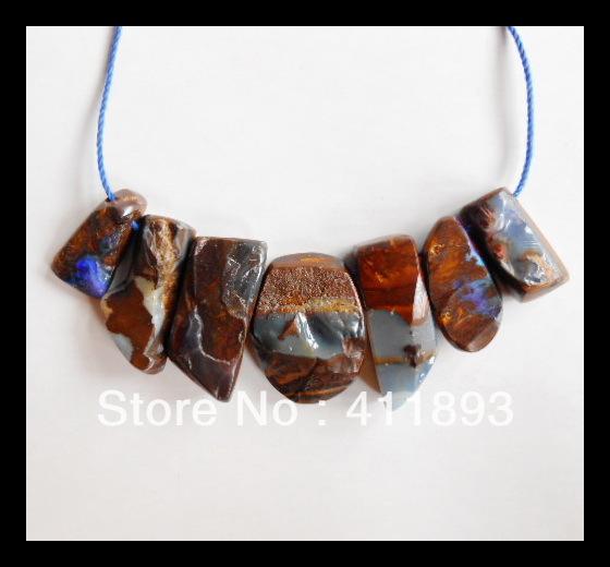 Vente, 7 psc boulder opal pendentif perle