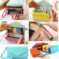 ladies' PU Hand bag clutch bag wallet handbags cardbags purse phone case  61730 -61736