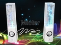 water dancing speaker/music fountain speaker/water fountain speaker, 4 led lights, 3.5mm jack, 3wx2, stereo, novelty/fun gift