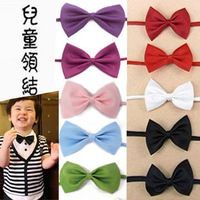 On sale 2014 children clothes accessories child bow tie flower girl bow tie black red Student performance cravat bow ties 30pcs