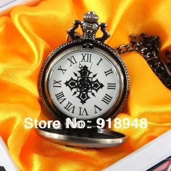 Free shipping elegant fancy vintage Pocket watch cartoon fashion pocket watch cos Vampire Knight collector best gift