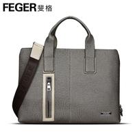 Man bag commercial cowhide handbag briefcase fashion male shoulder bag messenger bag casual backpack