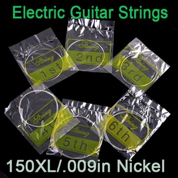 6pcs/set 10 sets 60pcs 150XL/.009in Electric Guitar Amp Strings Set I60 Free shipping Wholesale