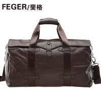Large capacity handbag first layer of cowhide commercial luggage one shoulder travel bag casual bag man