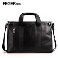Feger male cowhide commercial briefcase handbag messenger bag laptop bag