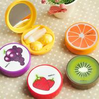 Fruit rainbow color small fresh contact lenses box lens mate box