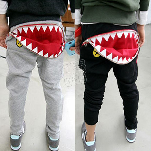 2013 spring hippo1 zipper boys clothing girls clothing baby casual pants long trousers kz-1368