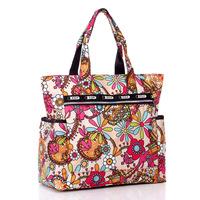 Flower waterproof nylon plus size handbag shoulder bag beach bag nappy women's handbag