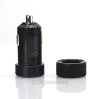 Wholesale New 5V 3A 2 Ports USB Socket Car Charger Power Supply Adaptor For iPhone 4/4s 81272