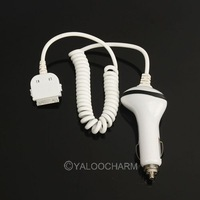 Wholesale 3pcs New White 8-pin Traval Car Vehicle Charger For Apple iPhone 4 iPad 81056 Free Shipping