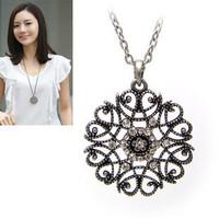 E1217 bohemia fashion cutout decorative pattern pendant necklace women's necklace