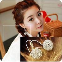 E0184 cutout ball bird nest earrings earring