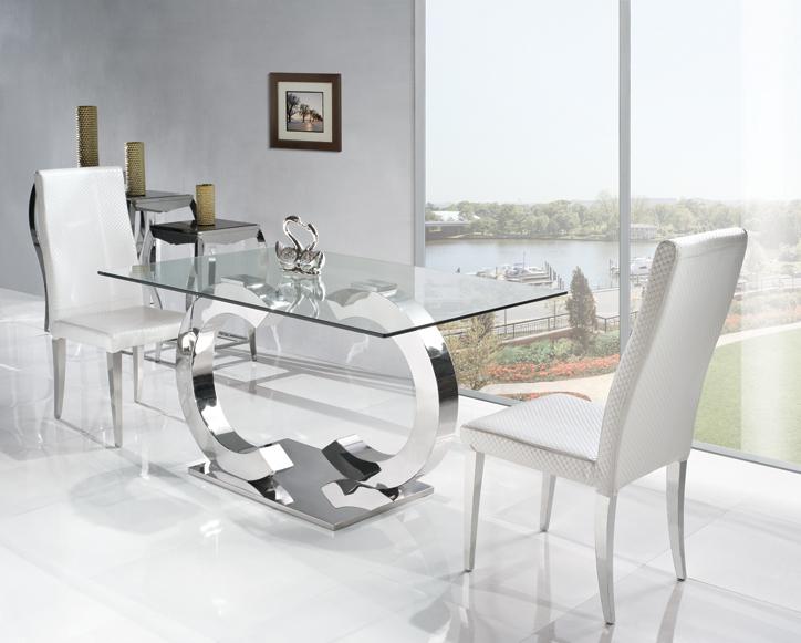 Tavoli di cristallo sala da pranzo tavolo bianco per cucina ...