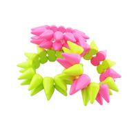 Neon color rivet punk acrylic elastic bracelet female bracelet