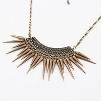 1093 accessories fashion trend fashion vintage rivet taper tassel necklace
