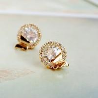 0310 stud earring full rhinestone butterfly zircon stud earring