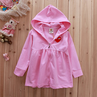 Free shipping new 2014 quality spring children hoodies for girls /girls coats for Height 90cm to 130cm