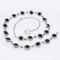 6 women's all-match pearl belly chain sweet fashion thin belt decoration metal necklace