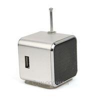 Wholesale New Silver TD-V26 Micro SD TF USB Mini Speaker Music Player FM Radio Stereo For PC mp3 80995