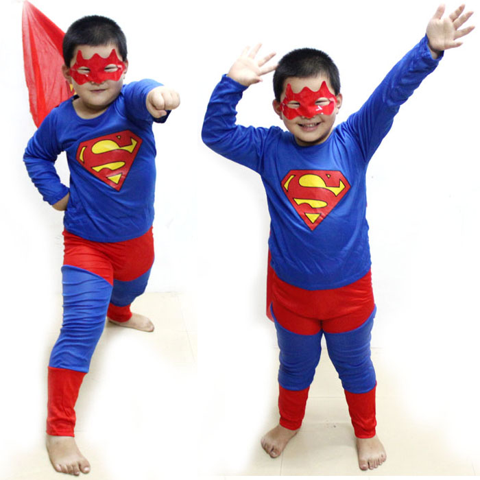 Free Shipping Children's clothing festival Christmas costumes superman corset dress suit can be moving(China (Mainland))