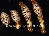 European style kitch door wardrobe cabinet drawer hareware zinc alloy bronze carved single hole/64mm/96mm/128mm