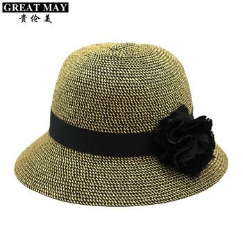 Hat female summer fashion knitted strawhat bucket beach hat sunbonnet