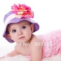 Doomagic Hat Top Baby Summer Sun Hats Girl's Ultraviolet Caps with flower style anti-UVA Sunhat Cap 3 sizes 6pcs/lot