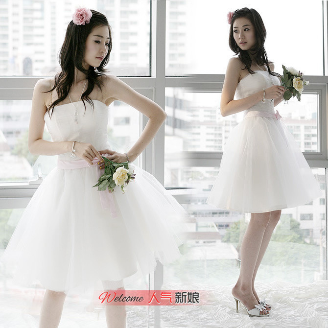 Hot-selling wedding dress bridesmaid dress design short dress bride short dress formal dress design evening dress(China (Mainland))