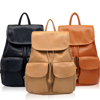 Double pocket decoration women's handbag casual bag backpack school bag backpack fashion female bags women's handbag bags bag
