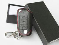 Genuine leather volkswagen touareg new bora HeLa light lavida car key wallet set remote control cover supplies