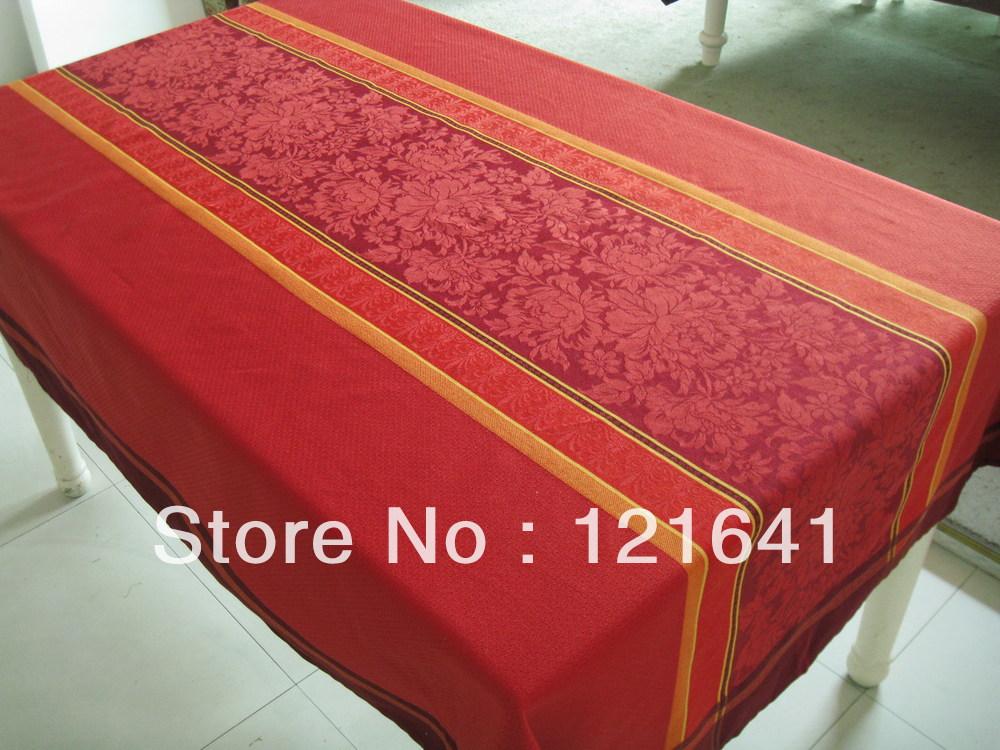100%polyester short fibre / Panel design/Jacquard tablecloth(China (Mainland))