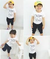 2014 Boys' Elephant suit 100-140 casual children Clothing kids boys sets BDT-125
